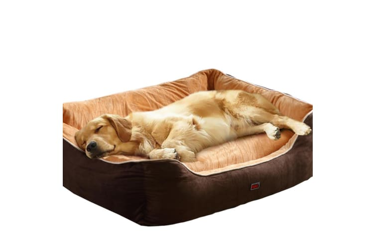 PaWz Pet Dog Cat Bed Deluxe Soft Cushion Lining Warm Kennel Mat Washable BR XXL  -  100X80X29cm100X80X29cm