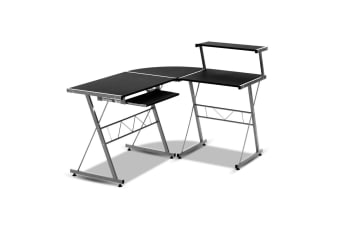 Three-piece Computer Desk (Black)