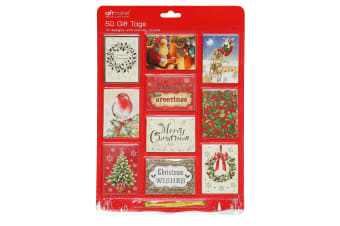 Christmas Shop Foiled Gift Tags (50 Pack) (Pack of 2) (Traditional)