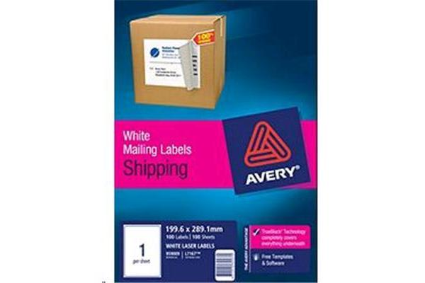 AVERY LASER LABEL L7167-100 100 SHEET