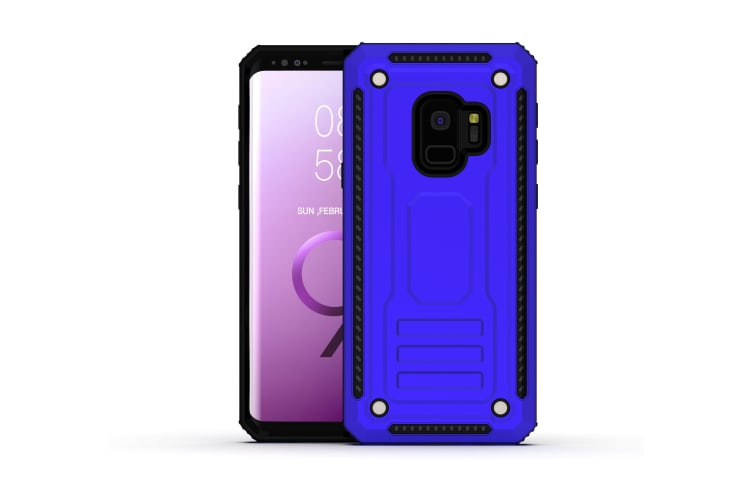 For Samsung Galaxy S9+ Plus Case Armour Strong Shockproof Thin Tough Cover  Blue