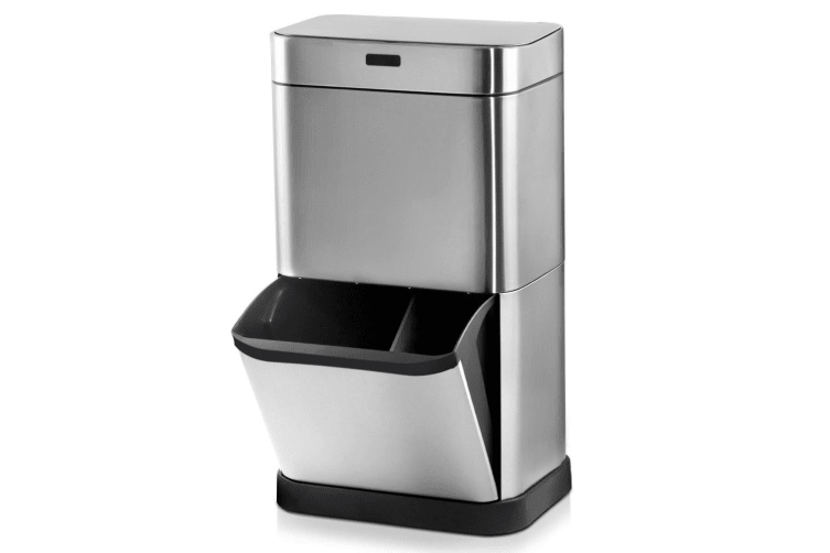 Devanti 70L Motion Sensor Bin Automatic Rubbish Bin Trash Can Stainless Steel