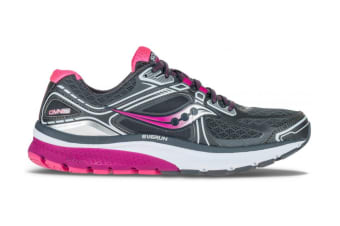 Saucony Women's Omni 15 Wide Running Shoe (Grey/Purple/Pink, Size 6)