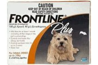 Frontline Plus for Small Dogs up to 10 kgs - 6 Pack - Orange - Flea & Tick Contr