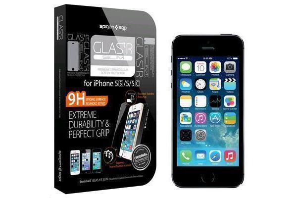 Spigen iPhone SE/5S/5 /5C Premium Tempered Glass Screen Protector Super Slim (0.33mm)