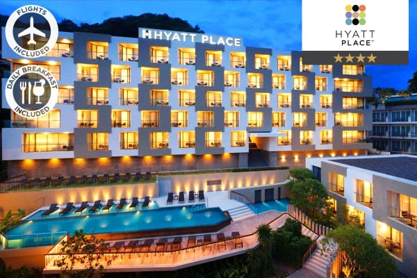 PHUKET: 8 Nights at Hyatt Place, Patong Including Flights for Two (Standard Room)