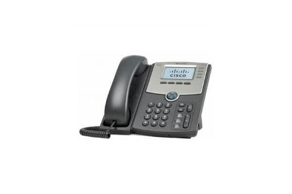 CISCO 4 LINE IP PHONE WITH DISPLAY POE AND GIGABIT PC PORT