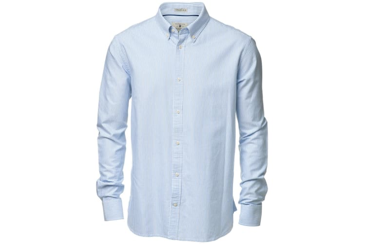 Nimbus Mens Rochester Oxford Long Sleeve Formal Shirt (White / Light Blue) (2XL)