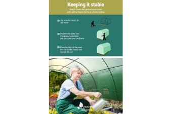 4X3X2M Walk In Greenhouse Replacement PE Cover Shed *Cover Only*