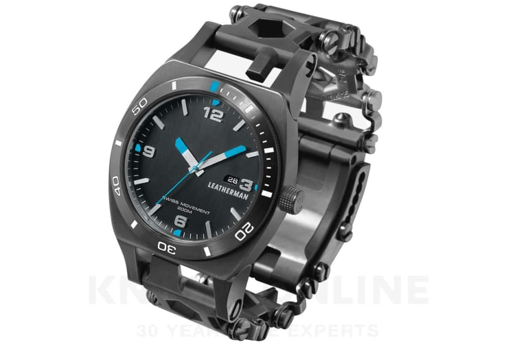 NEW LEATHERMAN TREAD TEMPO BLACK WATCH TIMEPIECE GIFT BOXED