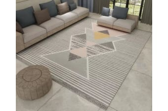 Modern Geometric Rectangular Carpet Sofa Mat Coffee Table Blanket - Bk05 120*160Cm