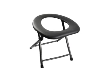Portable Toilet Seat Raised Chair Home Aid Camping Travel Potty Rise Stool Adult Black