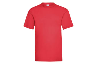 Mens Value Short Sleeve Casual T-Shirt (Bright Red)
