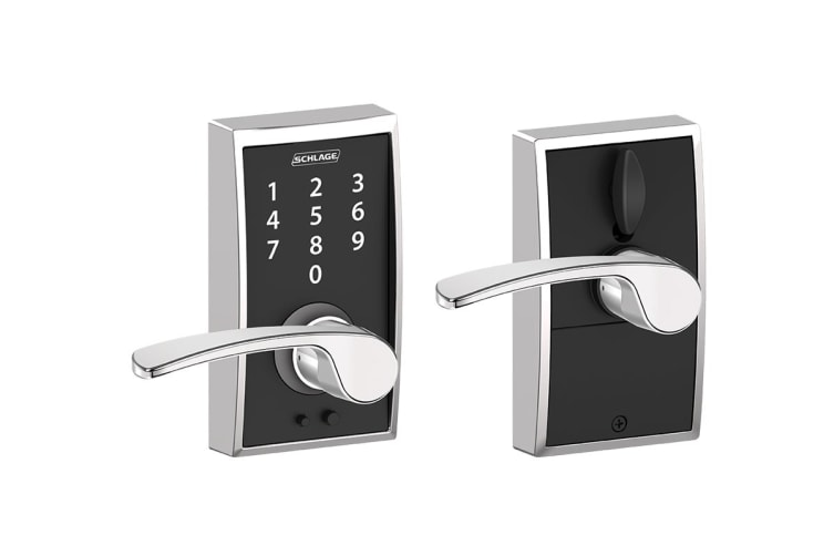 Schlage Touch Keyless Touchscreen Lever with Century Trim and Merano Lever (Bright Chrome)