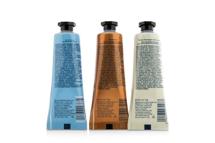 Crabtree & Evelyn Bestsellers Hand Therapy Set (1x Caribbean Island Wild Flowers, 1x Gardeners, 1x La Source) 3x25g