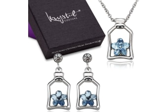 Cutie Star Necklace And Earrings Set Embellished with Swarovski crystals