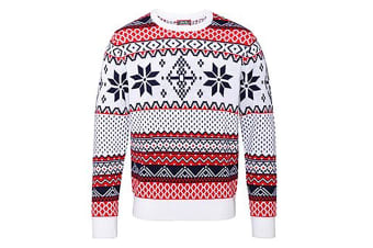 Christmas Shop Adults Nordic Jumper (White)