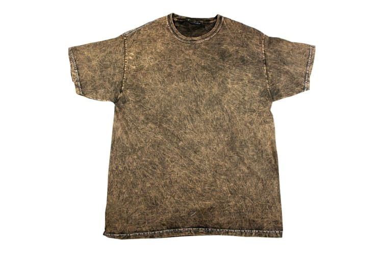 Colortone Mens Mineral Wash Short Sleeve Heavyweight T-Shirt (Brown) (M)