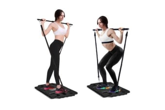 Portable Gym Full Body Workout Resistance Bands Black
