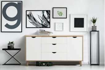 Shangri-La 3 Drawer 2 Door Buffet - Nyhavn Collection (White & Oak)