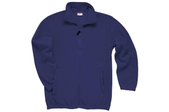 RTXtra Mens Classic Pill Resistant Fleece Jacket (Navy)