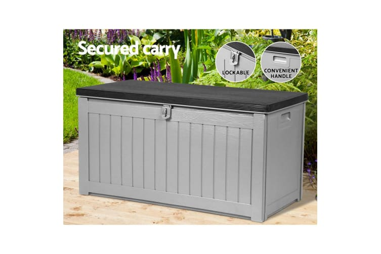 Remarkable Outdoor Storage Box Bench Seat Lockable Garden Deck Toy Tool Sheds 190L Home Storage Caraccident5 Cool Chair Designs And Ideas Caraccident5Info