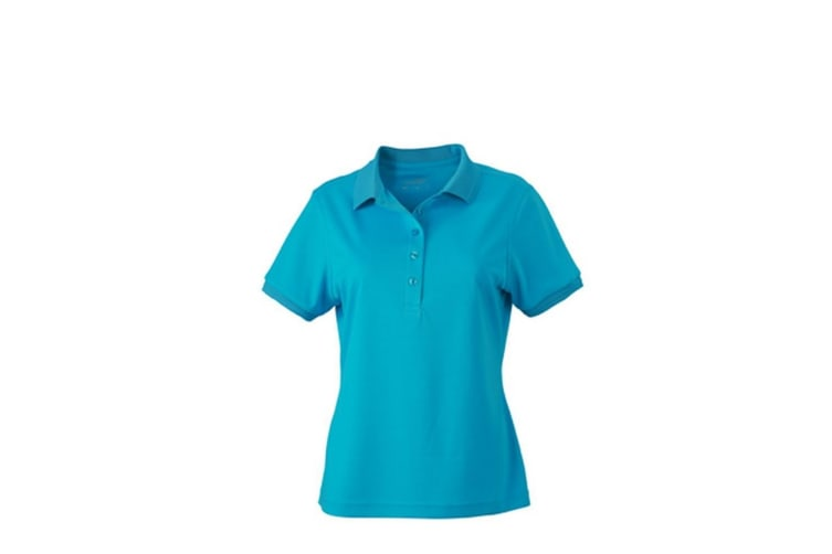 James and Nicholson Womens/Ladies Active Polo (Turquoise) (L)