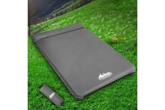 Self Inflating Mattress Camping Sleeping Mat Air Bed Pad Double Grey