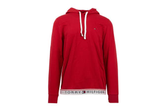 Tommy Hilfiger Men's Modern Essentials Flag Hoodie (Mahogany)