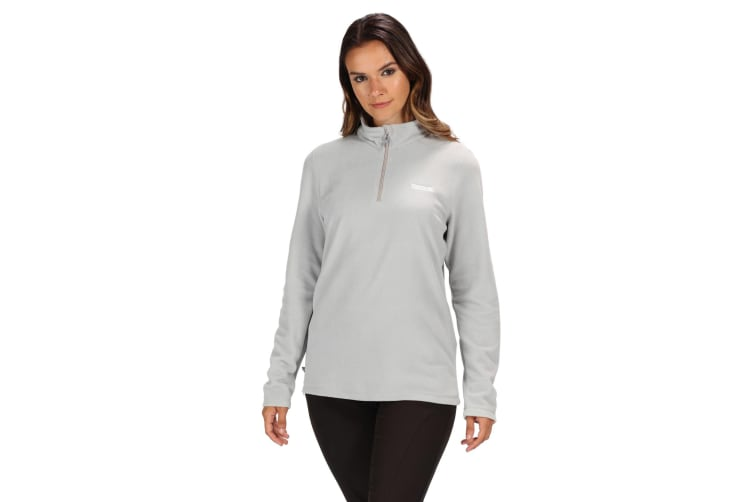 Regatta Great Outdoors Womens/Ladies Sweetheart 1/4 Zip Fleece Top (Light Steel) (24)
