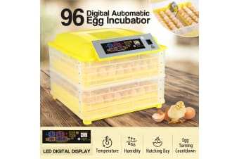 96 Egg Incubator Fully Automatic Turning Chicken Duck Poultry Egg Turner Hatcher
