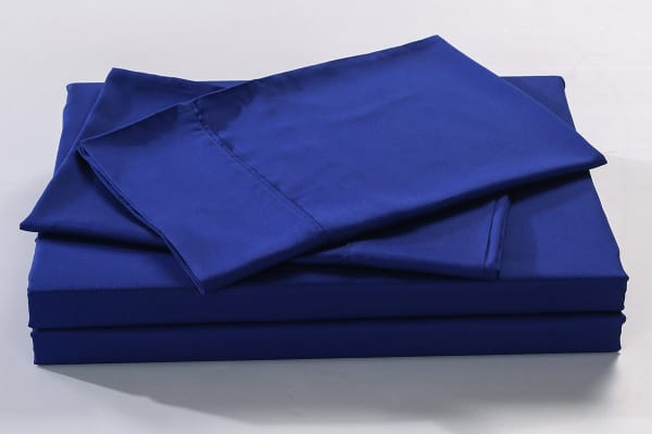 Royal Comfort 100% Natural Bamboo Bed Sheet Set (Double, Indigo)