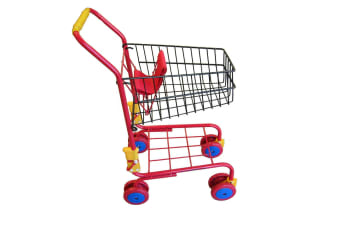 Kids Shopping Trolley Red