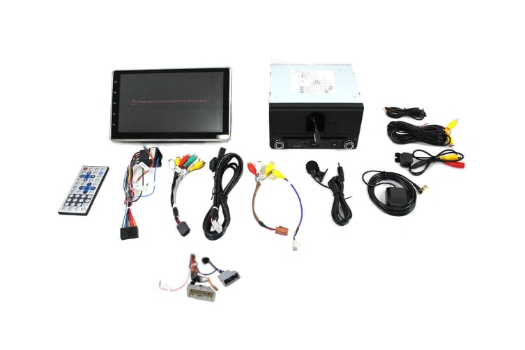 """Elinz Nissan 10.1"""" In Dash Car DVD Player Android 8 Double 2 DIN T2 Harness"""