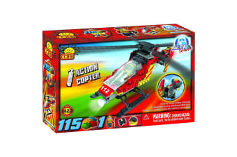 Action Town 115 Piece Fire Action Copter Construction Set