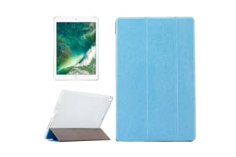 For iPad Pro 10.5-inch Case Elegant Leather Silk Texture Protective Cover Blue