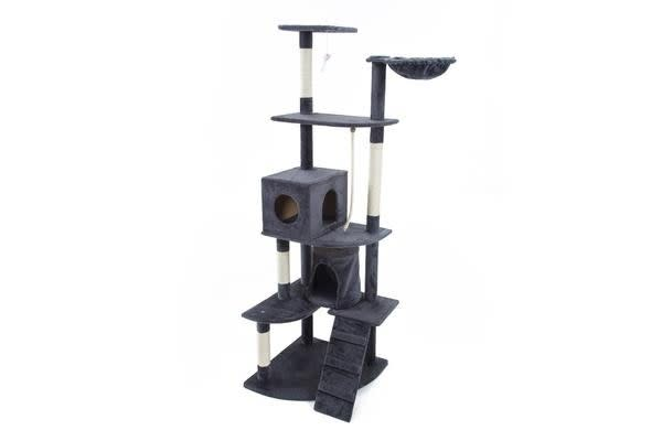 Cat Tree Scratcher ACACIA 193 cm - GREY