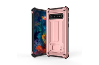 For Samsung Galaxy S10 Case Rose Gold Shockproof PC+TPU Armour Back Cover