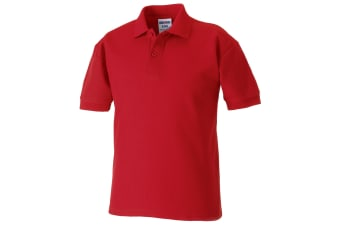 Jerzees Schoolgear Childrens 65/35 Pique Polo Shirt (Classic Red)