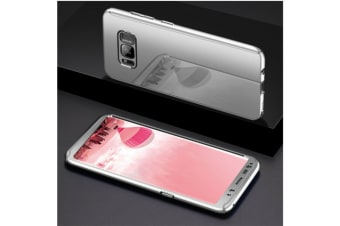 Mirror Cover Full Protective Scratchproof Flip Stand Case Shell For Samsung Silver Samsung S7 Edge