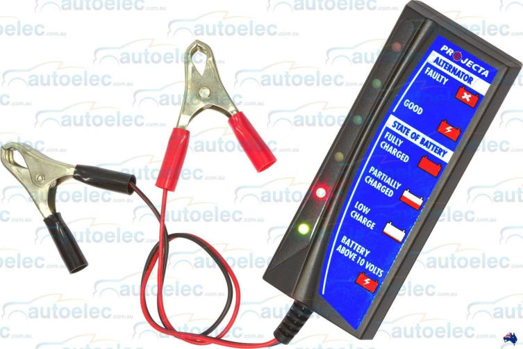 PROJECTA 12V CAR BATTERY ALTERNATOR REGULATOR TESTER TEST CHECK  BT100