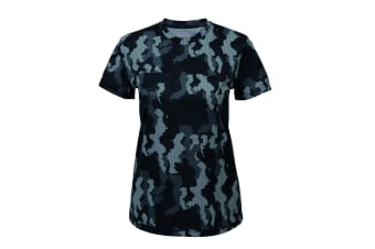 Tri Dri Womens/Ladies Hexoflage Performance Short Sleeve T-Shirt (Camo Charcoal) (S)