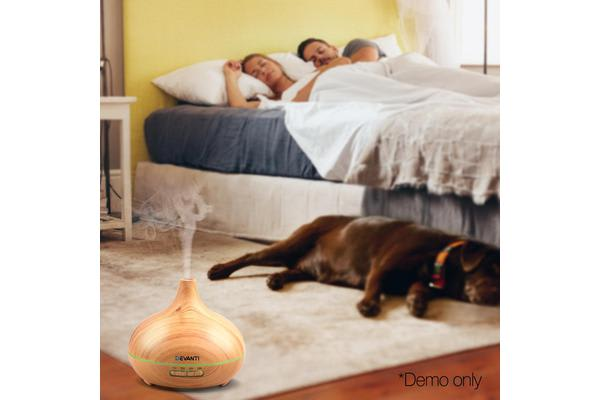 300ml 4-in-1 Aroma Diffuser (Light Wood)