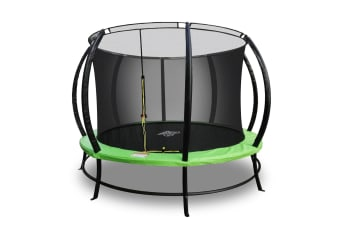 PoP Master 13FT Curved Trampoline with Basketball Hoop Ladder Storage Pouches