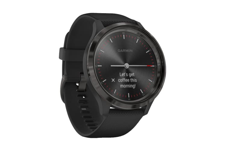 Garmin Vivomove 3 (Slate Stainless Steel Bezel with Black Case and Silicone Band)