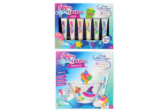 Aqua Dabra Kids 3D Toy Fantasy Kit Unicorn & 6pc Paint Refill Set 5y+