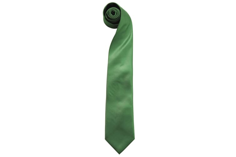 "Premier Mens Fashion ""Colours"" Work Clip On Tie (Pack of 2) (Emerald) (One Size)"