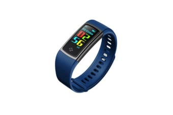 """TODO Bluetooth V4.0 Fitness Watch Band Heart Rate Blood Pressure Ip67 0.96"""" Oled - Navy"""