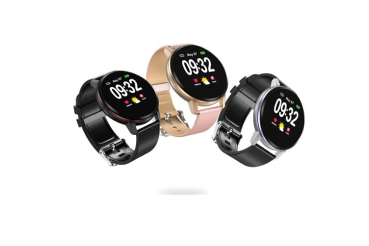 WJS 1.22inch Color Screen Blood Pressure Heart Rate Monitor Sport bluetooth Smart Wristband Watch-PINK