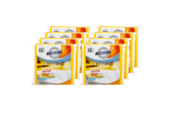 80PK Northfork Heavy Duty Absorbent Viscose Cleaning Wipes/Cloth 40x38cm Yellow